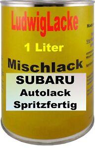 1-Litre-Pret-a-la-Pulverisation-Peinture-pour-Subaru-Premium-Silver-Met-01G