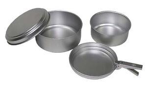 Original ejército alemán set de utensilios de cocina 3 piezas cubiertos 4 piezas BW Set cena Set