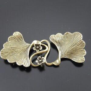 8PCS-Antique-Style-Bronze-Tone-Brass-Fashion-Leaf-Charm-Clasp-Finding-04625