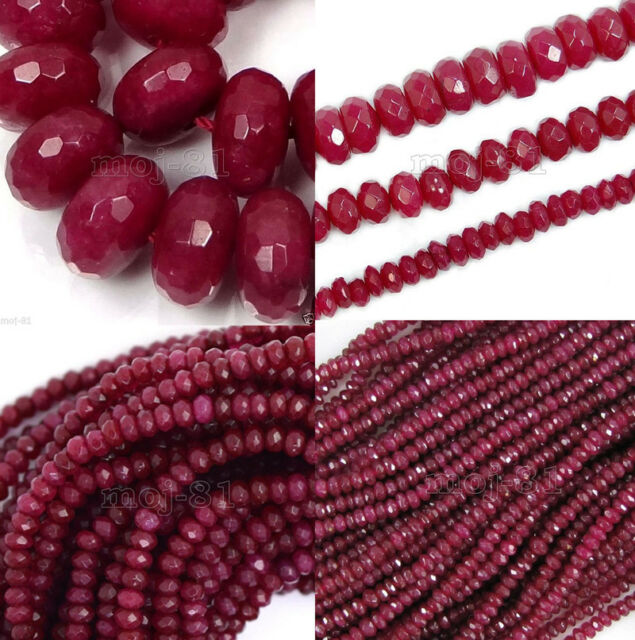 """AAA++ Natural 6mm Faceted Brazil Red Ruby Gemstones Loose Beads 15/"""""""