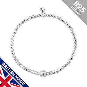 Trink-Origin-Sterling-Silver-Beaded-Charm-Bracelet-Elastic-Stretch
