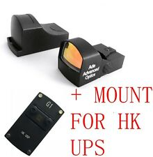 Ade Advanced Optics Compact MINI Micro Red Dot Reflex Sight Pistol for HK USP