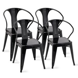 Good Image Is Loading 4PCS Steel Tolix Bistro Cafe Restaurant Dining Chairs