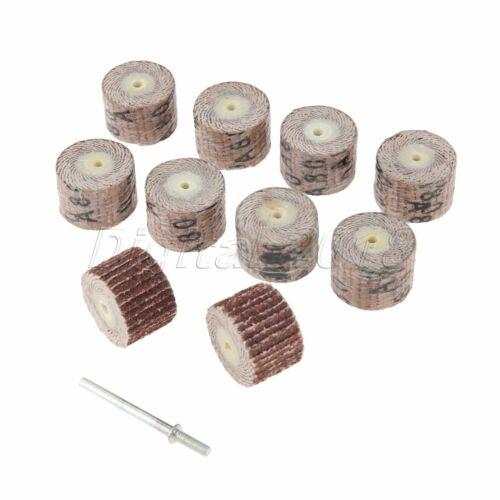 10Pcs 20mm Sanding Flap Grind Wheel Disc Polishing Pad 3mm Shaft Abrasive Drill