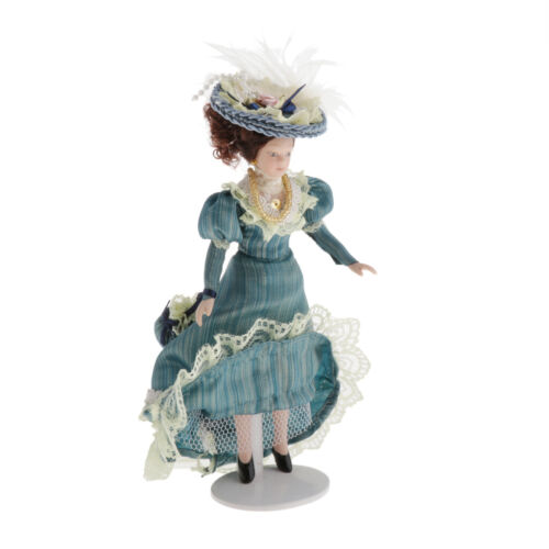 1//12 Scale Porcelain Doll Miniature for Dollhouse Classical Victorian Lady