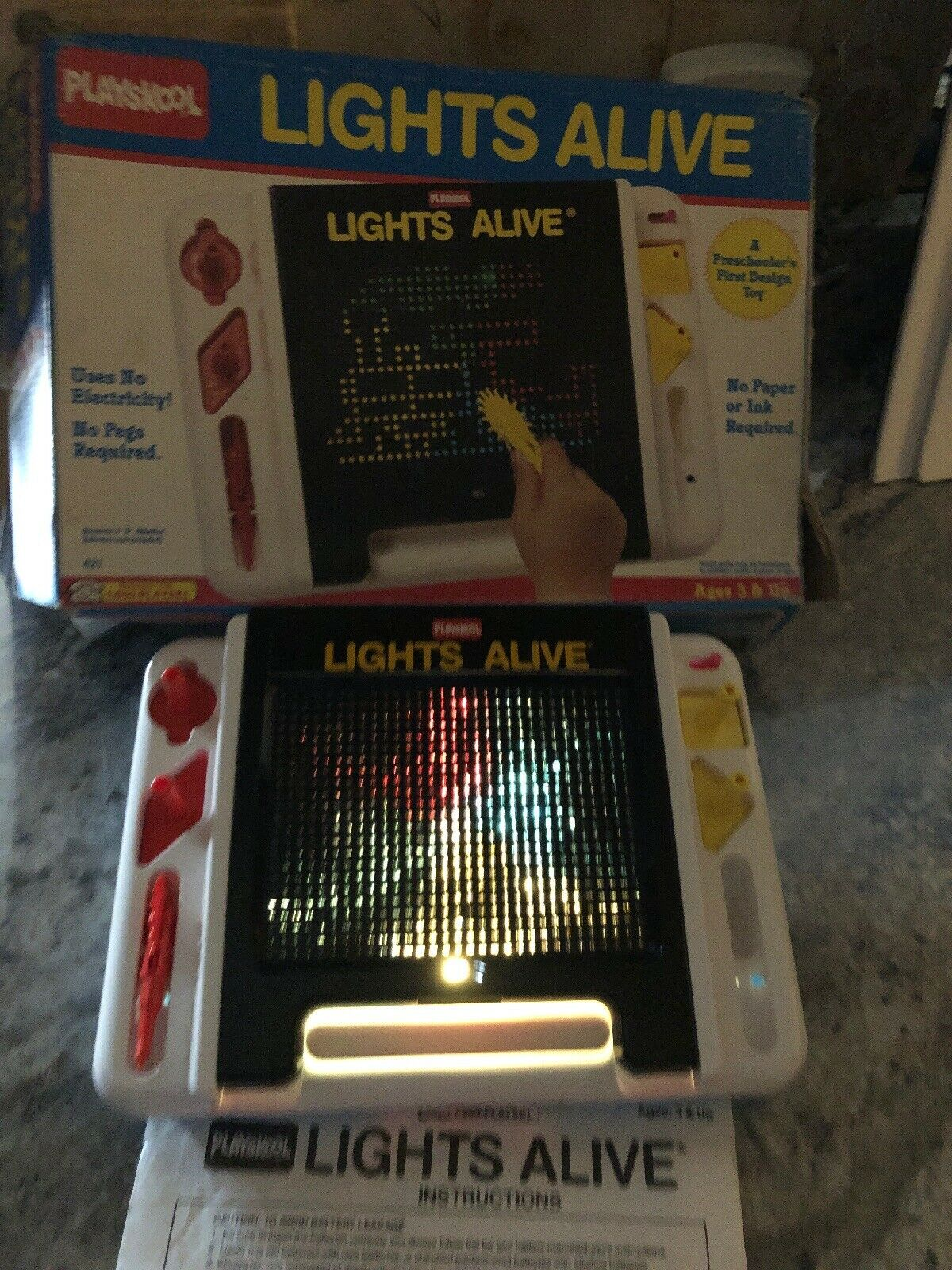 Vintage Lights Alive By Playskool 1990 In Box Works Perfect Has Instructions