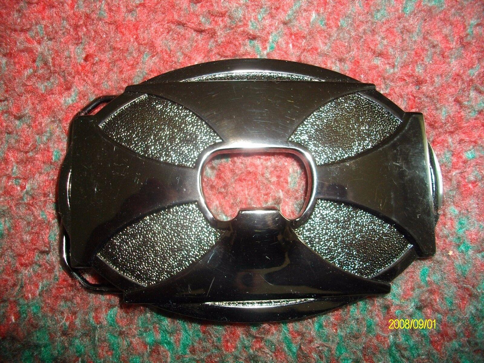 iron cross bottle opener belt buckle