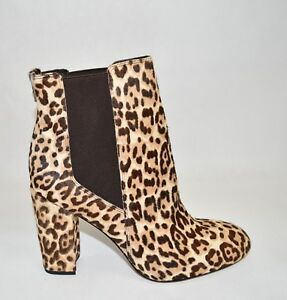 641365eda New! Sam Edelman Case Genuine Calf Hair Bootie Leopard Brown Print ...