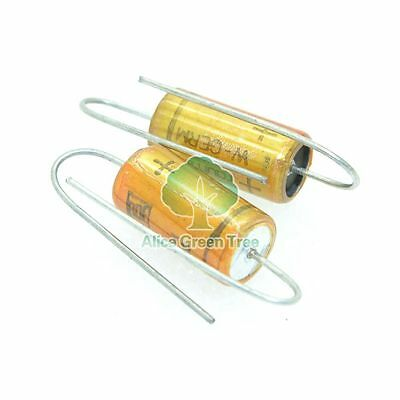 2pcs ROE  EBC 10uF//63V copper pin Audio Electrolytic Capacitor-4293