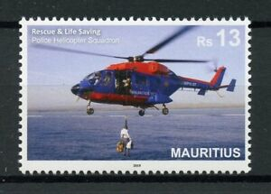 Mauritius-2019-MNH-Rescue-amp-Lifesaving-Police-Helicopters-1v-Set-Aviation-Stamps