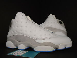 af11cabac8bdee Nike Air Jordan XIII 13 Retro WHITE FLINT GREY UNIVERSITY BLUE ...