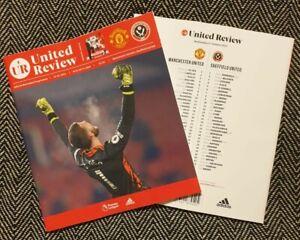 Manchester United v Sheffield United 27/1/21 Premier League Programme! LAST FEW!