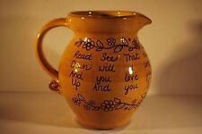 North Devon Pottery Motto Jug - Harry Juniper - Bideford Pottery    #9014