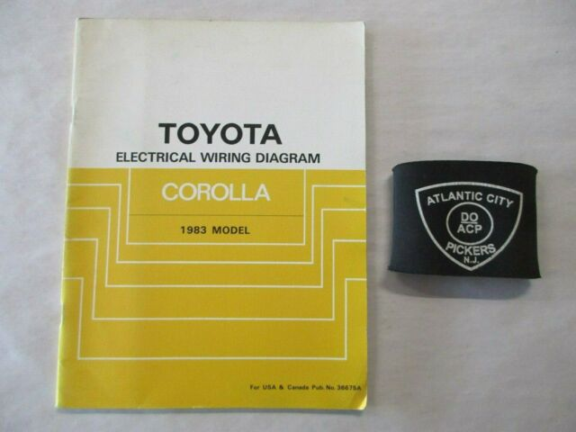 1983 Toyota Corolla Electrical Wiring Diagram Service