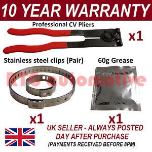 CV BOOT morsetti COPPIA interno & Esterno X1 cv grasso X1 EAR PINZE X1 KIT 4.1