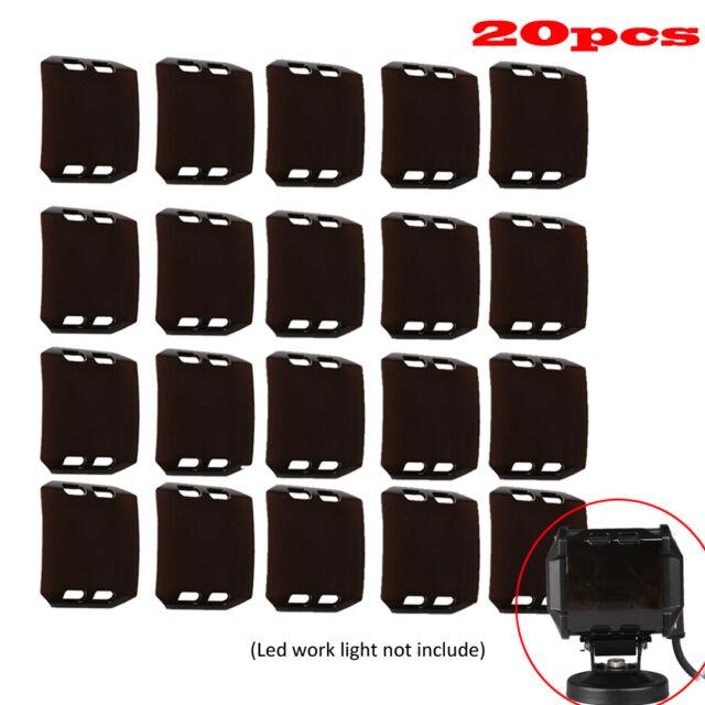 20pcs 18W 4'' inch Black Lens Cover For LED Work Light Bar Fog Lamp Offroad ATV