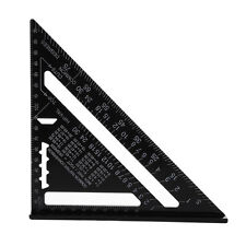 7 Inch Metric Aluminum Alloy Speed Square Roofing Triangle Angle Protractor New