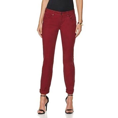 rich red G by GIULIANA LUXE BOYFRIEND Stretch JEANS  Garnett Color Many sizes