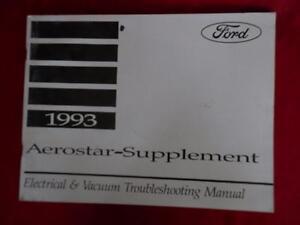 1993 ford aerostar electrical \u0026 vacuum manual supplement wiringimage is loading 1993 ford aerostar electrical amp vacuum manual supplement