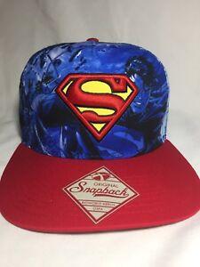 Superman DC Comics Bioworld Snapback Hat All Over Print Adjustable ... ac9d5f42a271
