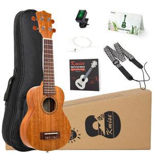 Mahogany-Ukulele-Ukelele-Soprano-Uke-Hawaii-chitarra-21-pollici-15-FRET-ne-risente-borsa-accordatore
