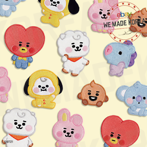 BT21-Baby-Character-Wappen-Badge-S-amp-L-Size-Official-K-POP-Authentic-Goods