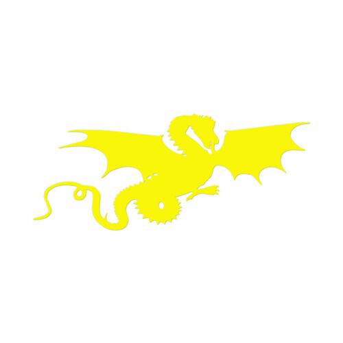 Multiple Color /& Sizes Flying Dragon Vinyl Decal Sticker ebn620