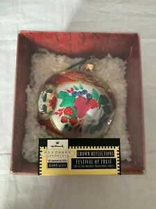 1999-Hallmark-Keepsake-Christmas-Ornament-Festival-of-Fruit-Blown-Glass-Crown