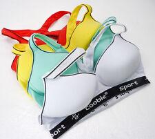 COOBIE Sports Bra Lot of 4 Colorful Womens Size 38D 38 D Active Wear Yoga Gym