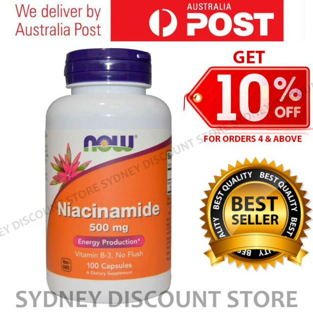 Now Foods Niacinamide 500 mg 100 or 200 or 300 Capsules NEW STOCK