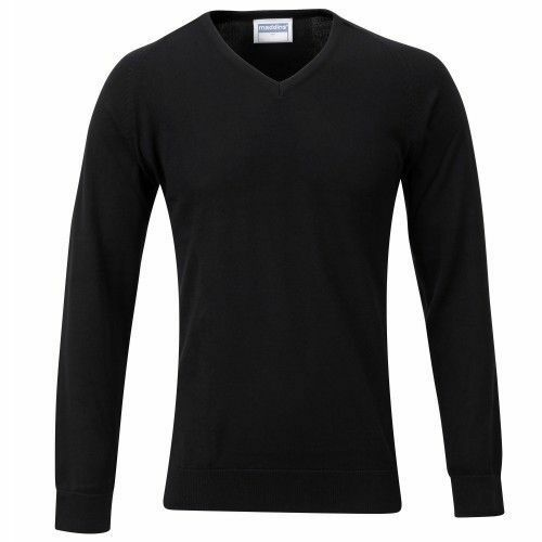 "Maddins MD19B Kids Unisex V Neck Fully Fashioned Jumper 2 Colours Sizes 26/""-30/"""