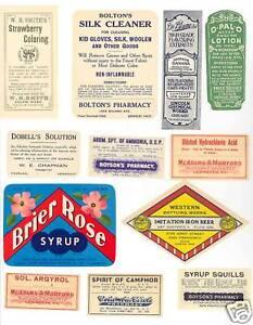 Image Is Loading 100 Vintage Medicine Drug Poison Labels Ephemera Old
