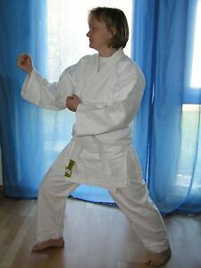 Neuer-Taekwondoanzug-Dobok-TKD-Anzug-Gr-120-190-weiss-Mod-8