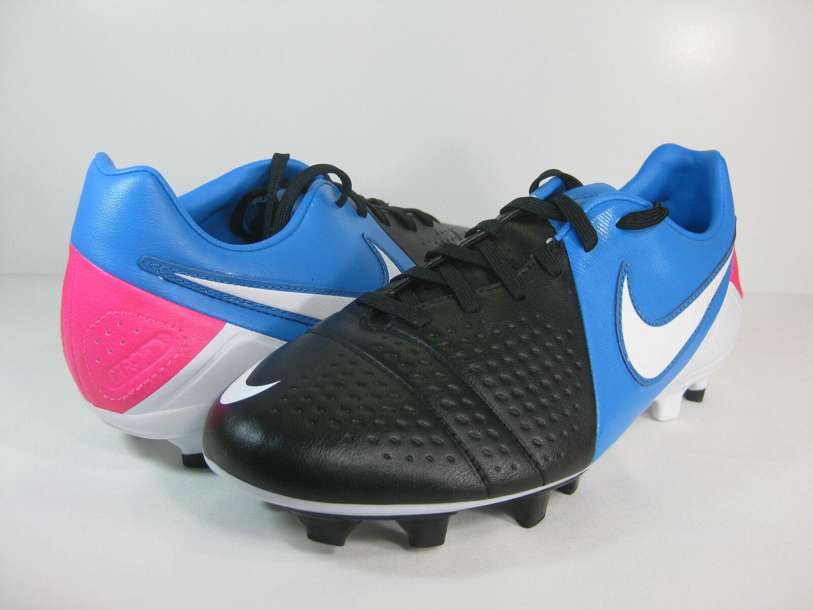 NIKE MENS CTR360 LIBRETTO III FG Black/White-Photo Blue-Pink Flash -525170 014-  Wild casual shoes