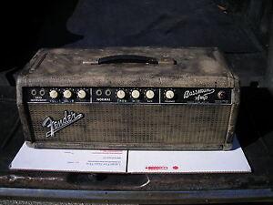 vintage 1964 fender bassman amp amplifier blonde black face white knob 59 circut ebay. Black Bedroom Furniture Sets. Home Design Ideas