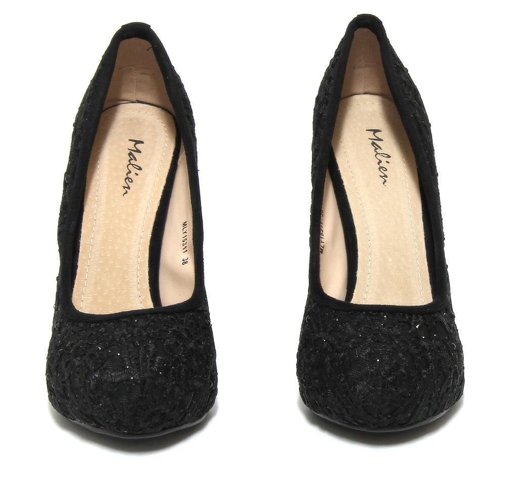 D- D- D- Wunderschöne Schuhe Pumps Schwarzer Spitze Strass Malien Größe 39 fda436