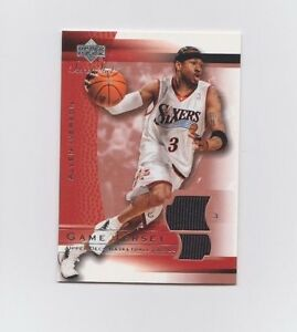 brand new 5eada 73880 Details about NBA : Allen Iverson Upper Deck Sweet Shot Game Worn Jersey  Card