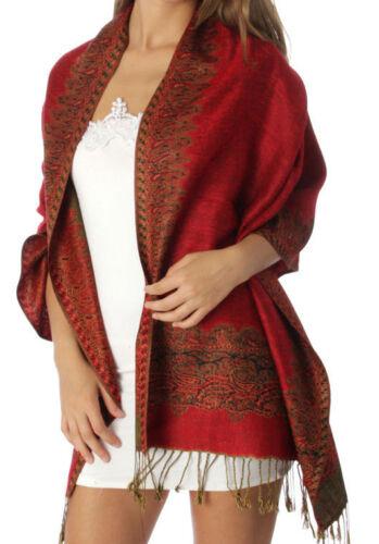 Border Patterned Pashmina Scarf Shawl Wrap 1 Dozen Assorted Color Details about  /On Sale