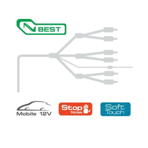 Audison Connection Best BT6 550 5.5m 18 ft 6 Channel Car RCA Amp Cable Lead