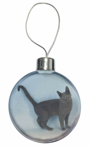 Russian Blue Cat Christmas Tree Bauble Decoration Gift AC-108CB