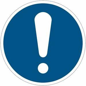 """Cartelli di obbligo ISO 7010 """"Obbligo Generico""""  M001"""