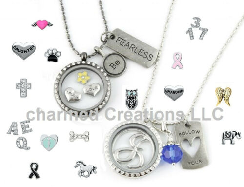 Heart Husband Love Floating Charm For Our Glass Memory Locket Necklaces