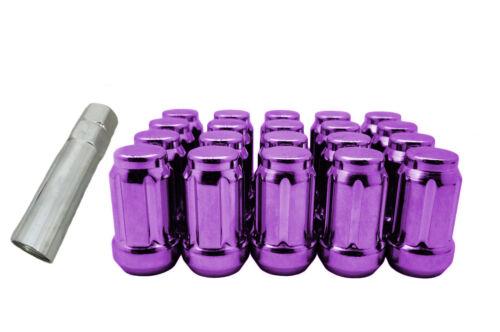 CPR CLOSE ENDED SPLINE STEEL LUG NUTS L35 20PCS 12X1.5 WITH KEY PURPLE
