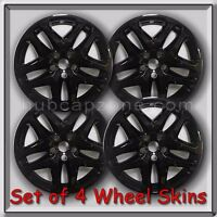 Set Of 4 Black 17 2013-2014 Ford Fusion Wheel Skins Hubcaps Wheel Covers