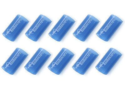 """KnuKonceptz Blue 1"""" 0 Gauge 3:1 Heat Shrink Tubing w/ Adhesive Glue - 10 Pack"""