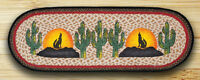 Howling Coyote 100% Natural Braided Jute Runner 13 X 36 Oval, By Earth Rugs