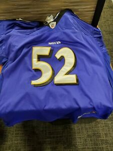 Details about Ray Lewis Jersey Baltimore Ravens Reebok On Field NFL Football 60 Sewn
