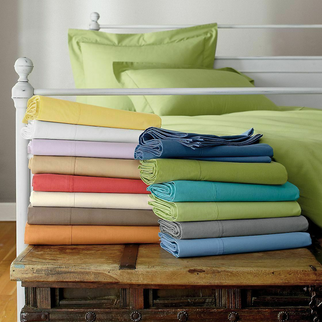 Select TC & Deep Wall 1 PC Fitted Sheet+2 PilFaible cas Solid Couleurs AU Queen
