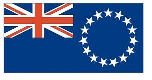 Cook Islands Flag Sticker F116 CHOOSE SIZE FROM DROPDOWN