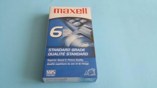 Maxell Videocassette VHS T-120/246m Blank Tape